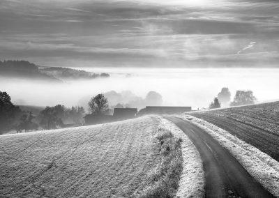 Nebelstimmung zwischen Brombach und Hirschbach